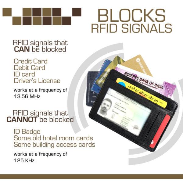 Fashion Freak RFID blocking card holder for men