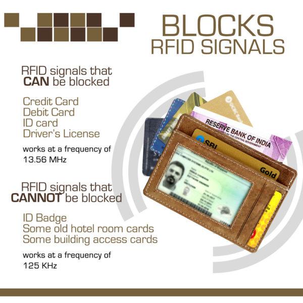 Fashion Freak RFID blocking card holder for men brown